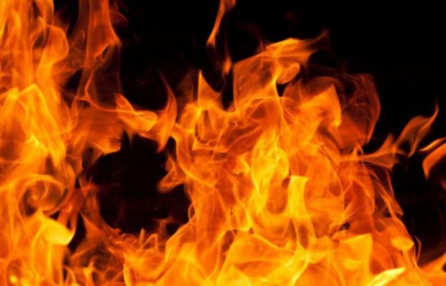 В Костанае горел завод по производству рапсового масла