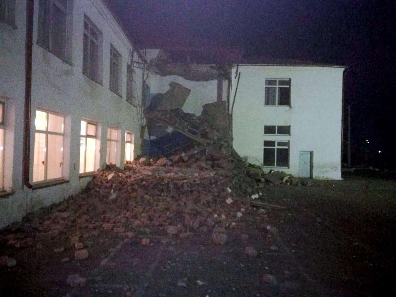 В СКО произошло обрушение аварийного выхода в школе