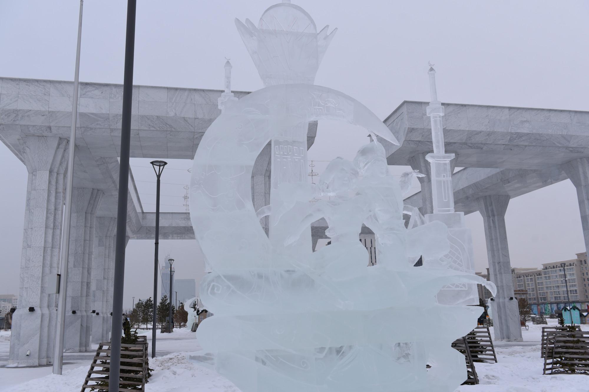Астанада халықаралық мұз мүсін байқауы мәресіне жетті