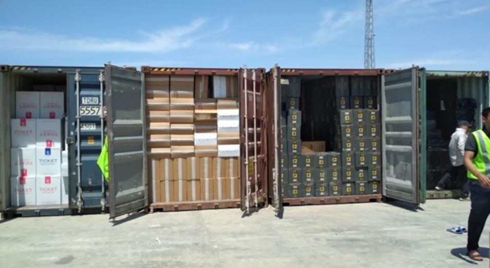 В Актау конфисковали контрабандную партию сигарет стоимостью 1,2 млрд тенге