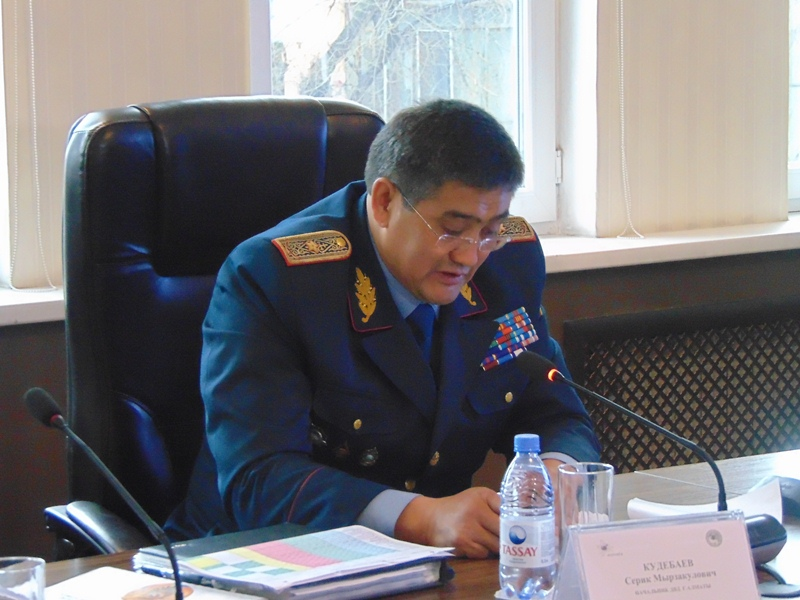 О чистке рядов в полиции Алматы рассказал Серик Кудебаев
