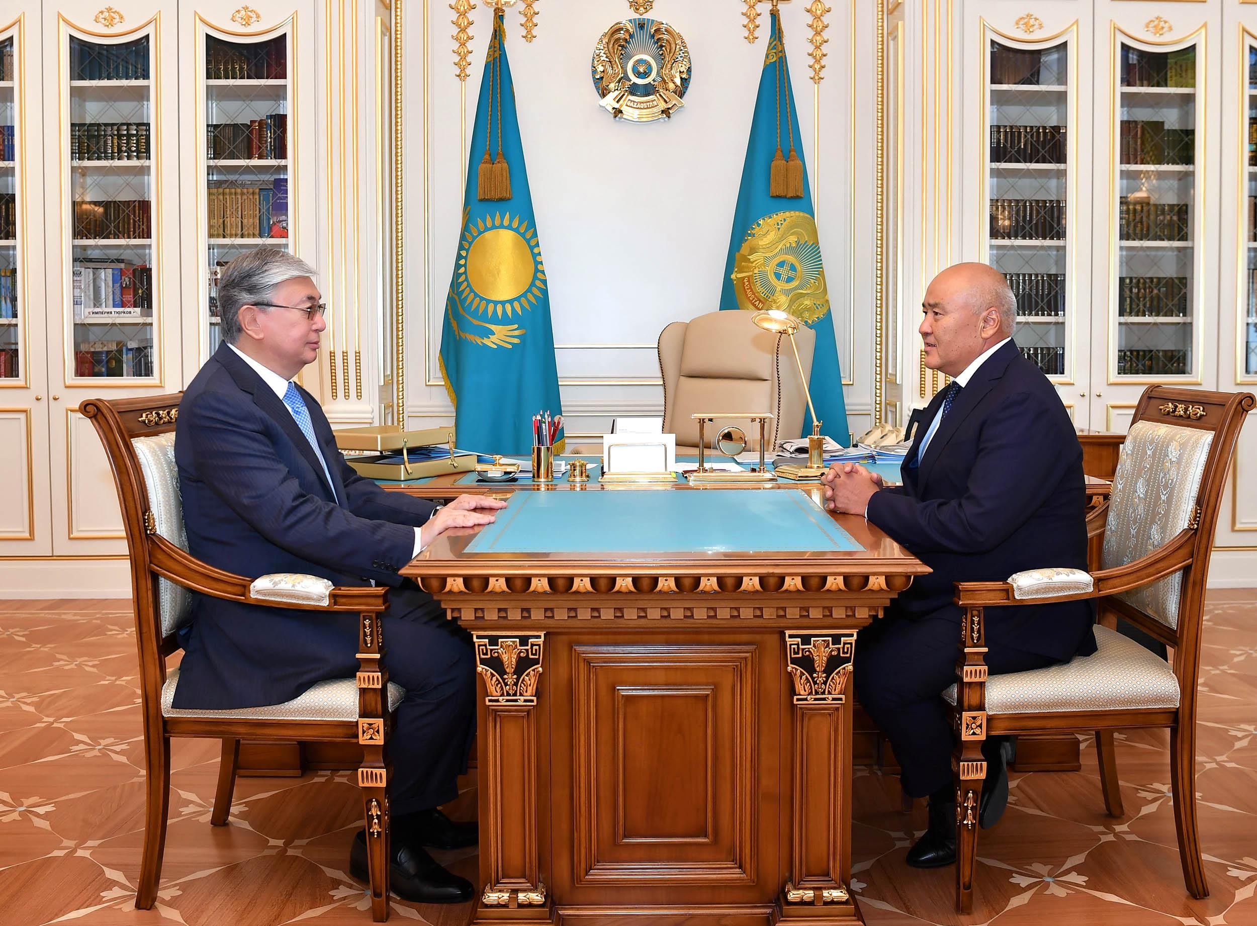 Касым-Жомарт Токаев принял акимов Костанайской и Туркестанской областей