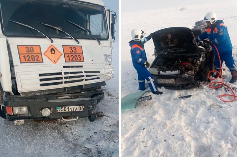 Четыре человека погибли в ДТП на трассе Самара – Шымкент