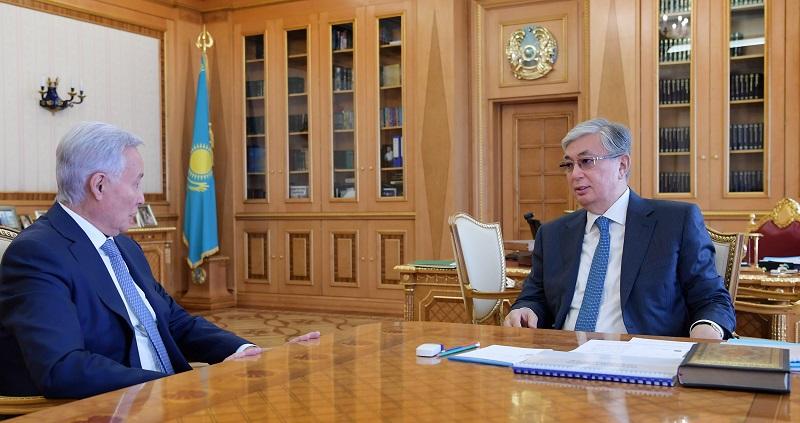 Касым-Жомарт Токаев принял председателя правления АО «Национальный научный медицинский центр»
