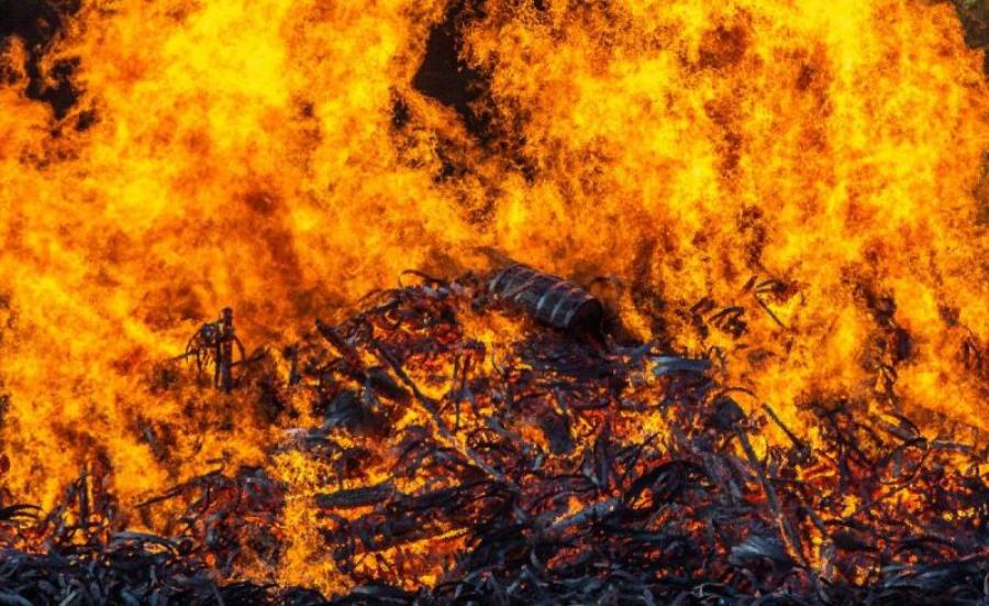 В депо Арыси произошел пожар – Комитет по ЧС