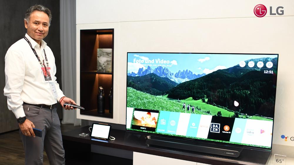 Первый в мире 8K OLED-телевизор представила LG Electronics на выставке IFA 2018