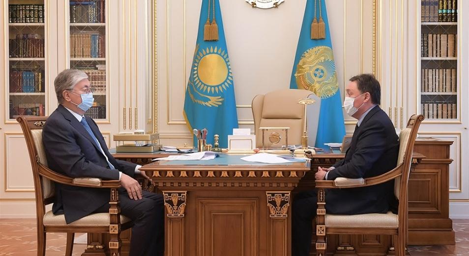 О чем говорили Касым-Жомарт Токаев и Аскар Мамин?
