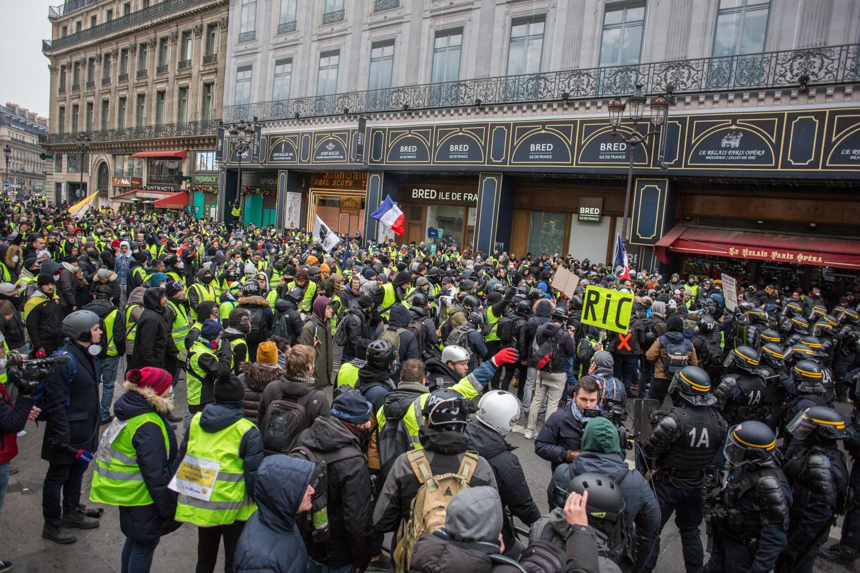 Протесты в Париже собрали 4,5 тыс. человек