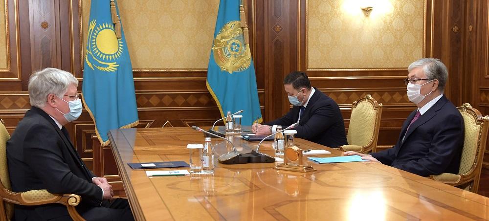 Касым-Жомарт Токаев принял посла Российской Федерации в Казахстане Алексея Бородавкина