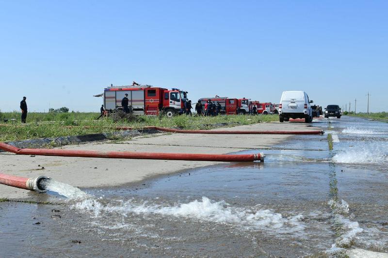 В подтопленных селах Мактааральского района активизировали работу по откачке воды