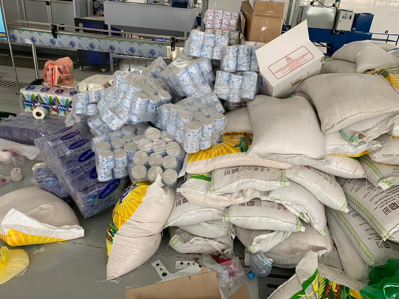 Объем гуманитарной помощи, доставленной в Арысь, достиг 270 тонн