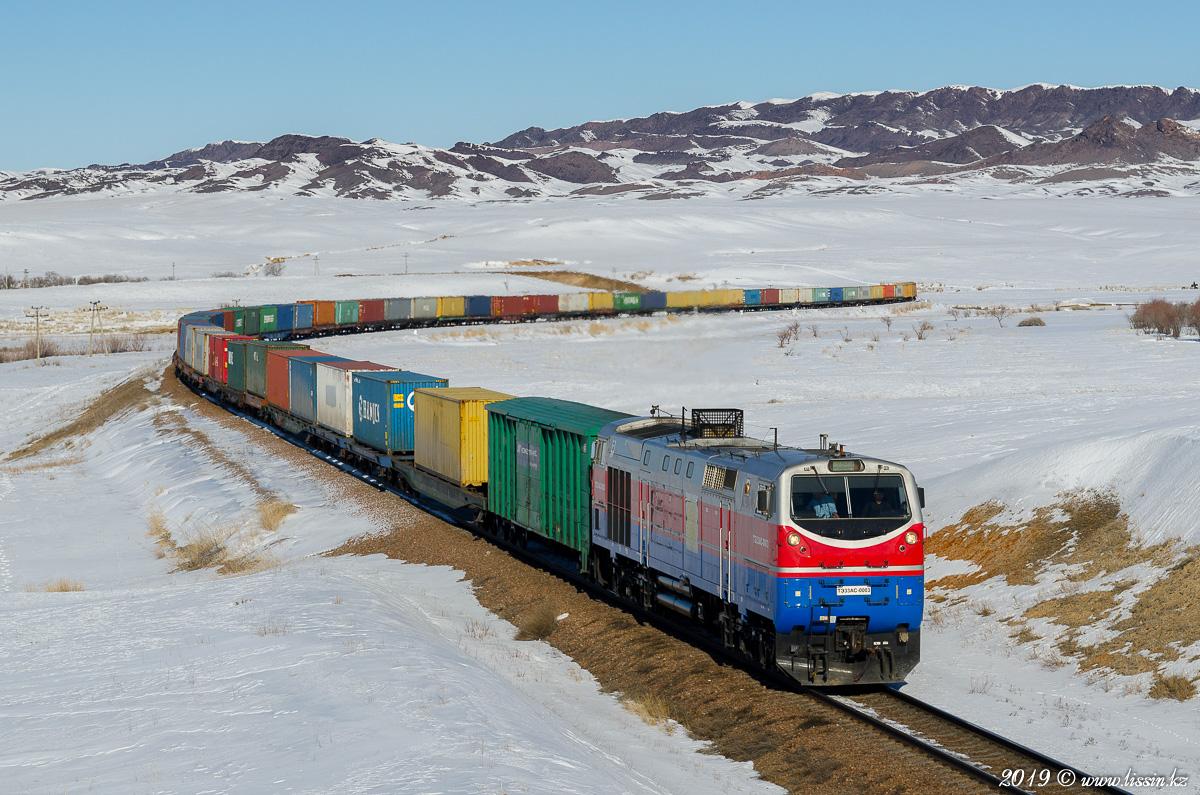 Объем транзита грузов ж.-д. транспортом через Казахстан вырос на 10% в 2018 году