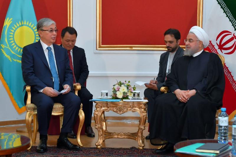 Касым-Жомарт Токаев встретился с президентом Ирана Хасаном Рухани