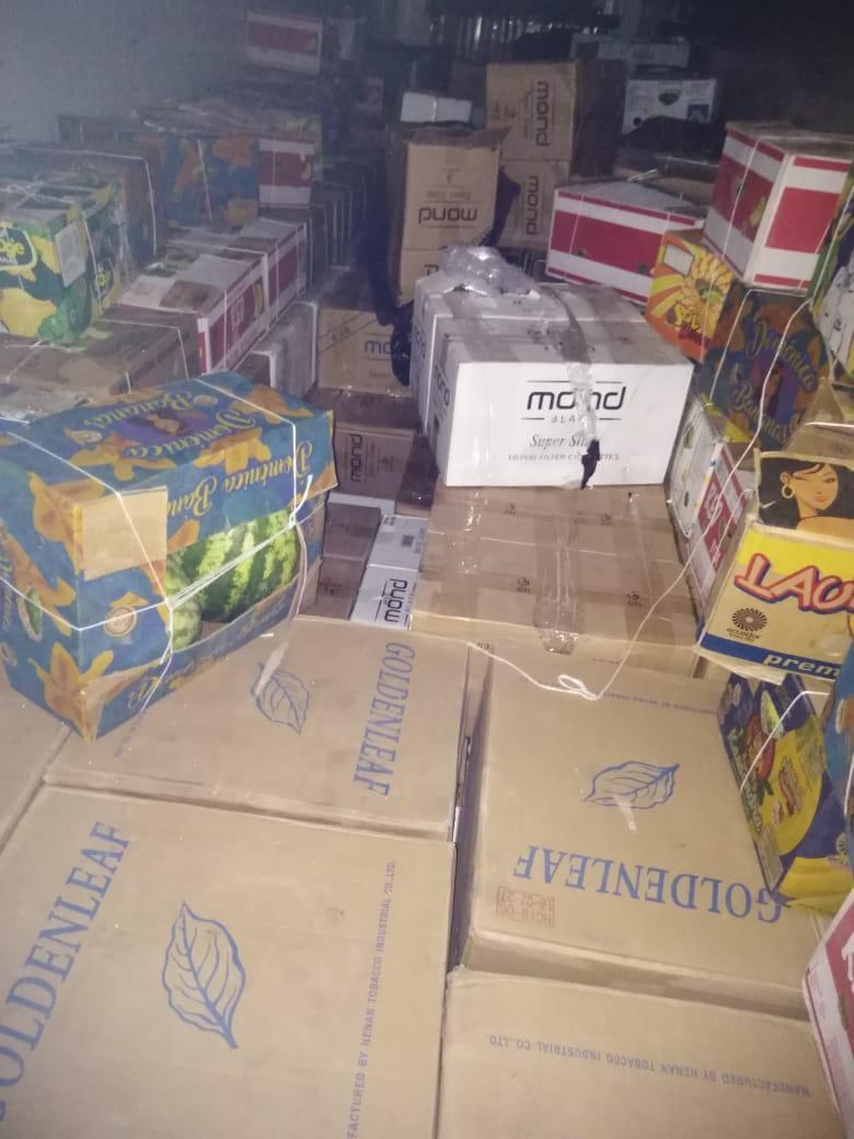 Более 600 тысяч пачек сигарет пытались незаконно вывезти из Казахстана