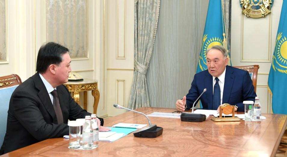Нурсултан Назарбаев встретился с премьер-министром Аскаром Маминым