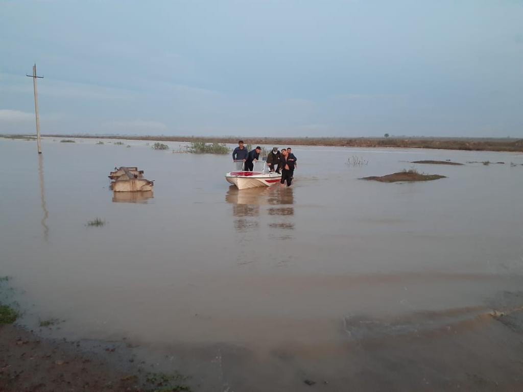 В Мактааральском районе затоплено третье село