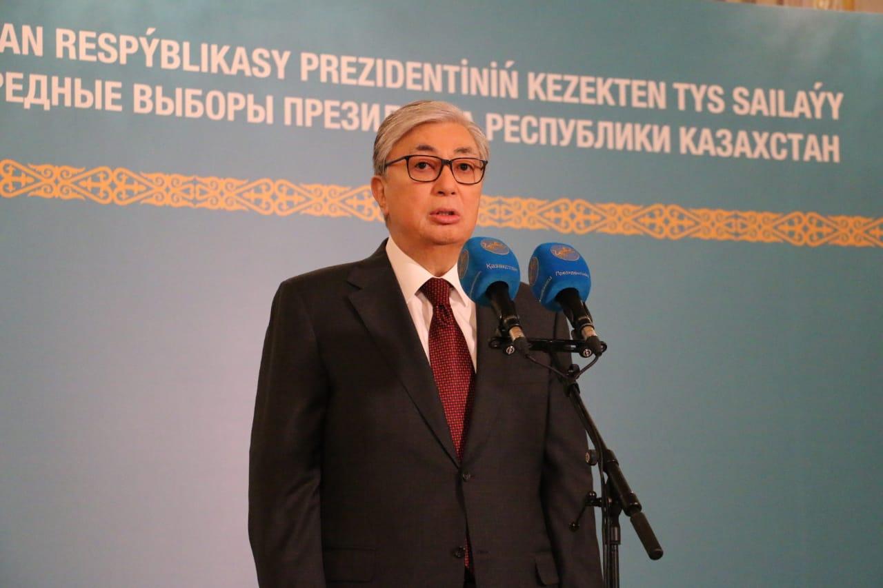 Касым-Жомарт Токаев поблагодарил казахстанцев за доверие