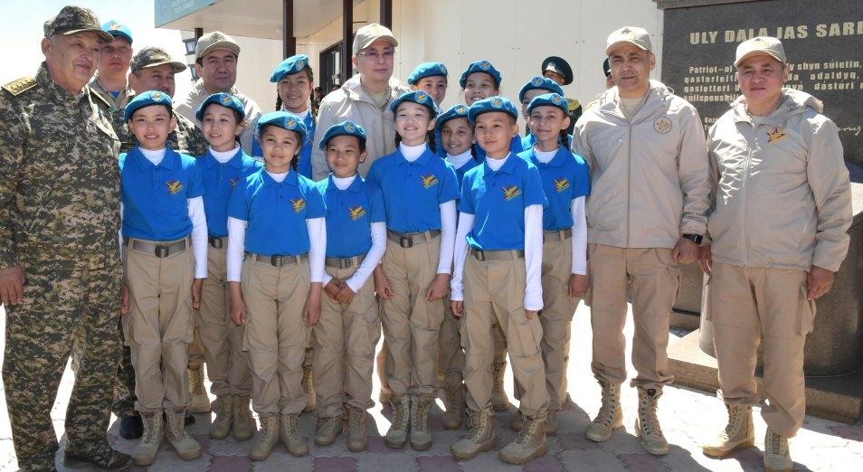 Касым-Жомарт Токаев принял участие в открытии V Республиканского военно-патриотического сбора молодежи «Айбын»