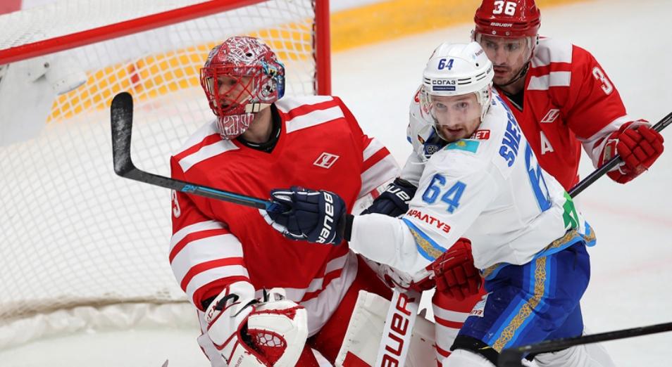 Регулярка КХЛ: «Барыс» уступил «Спартаку» в ретроматче