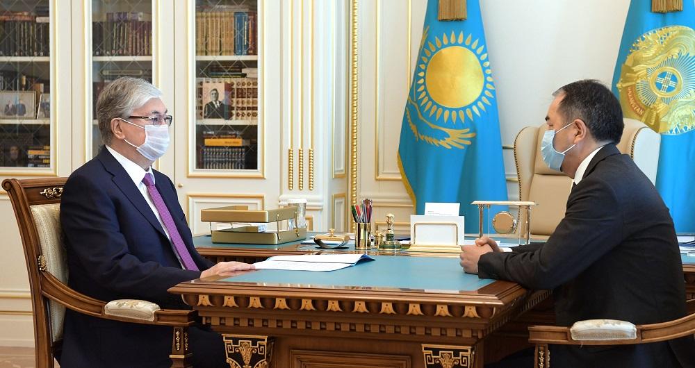 Глава государства принял акима Алматы Бакытжана Сагинтаева