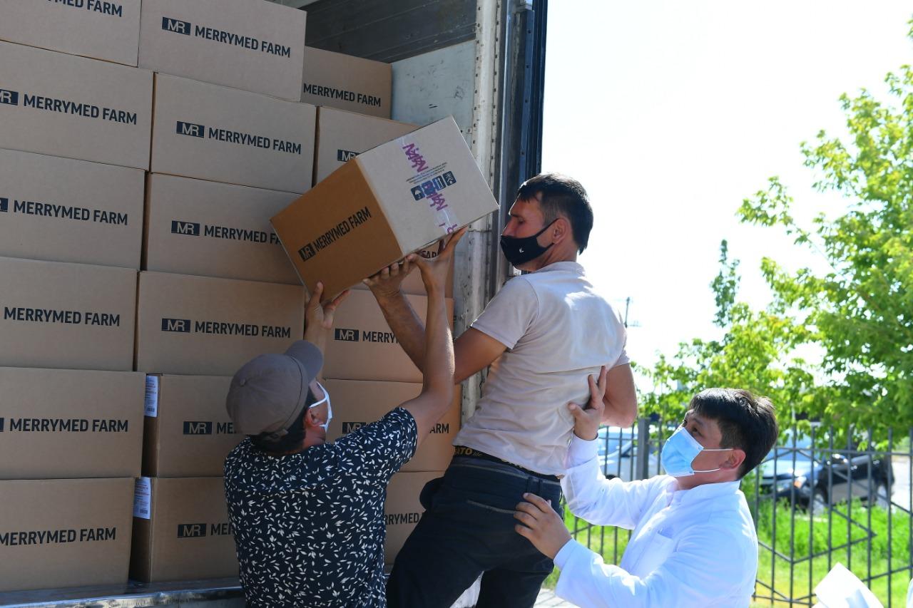 В Туркестан из Узбекистана прибыло 142 тысячи коробок с лекарствами