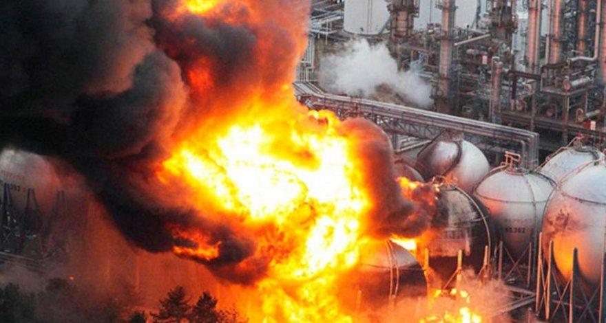 Взрыв вызвал пожар на заводе энергетической компании на востоке Китая