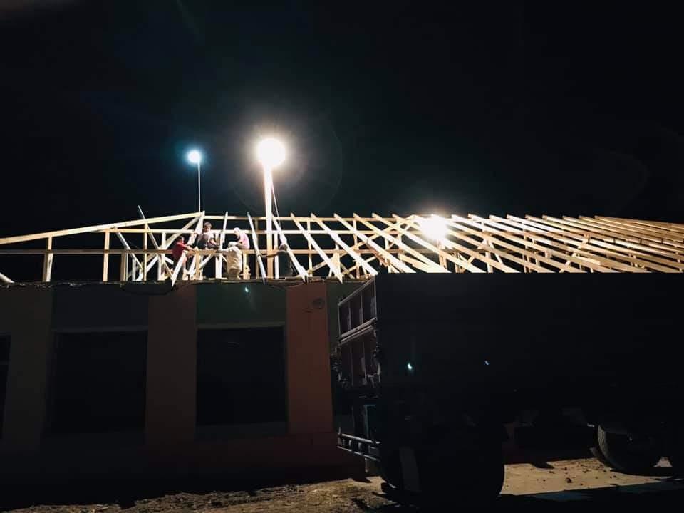 В Арыси строительство ведется даже ночью