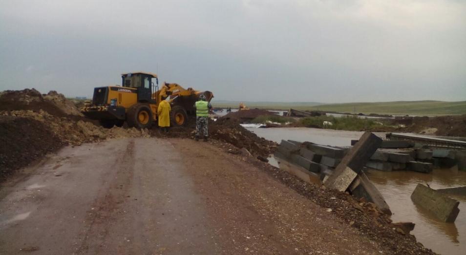 Размытие участка трассы Павлодар – Баянаул произошло из-за невосстановленной дамбы