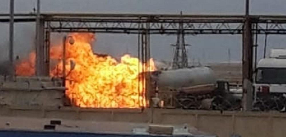 """В Жанаозене на заводе """"КазГПЗ"""" произошло возгорание автоцистерны с газом"""