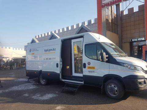 В Алматы начала работу мобильная налоговая инспеция