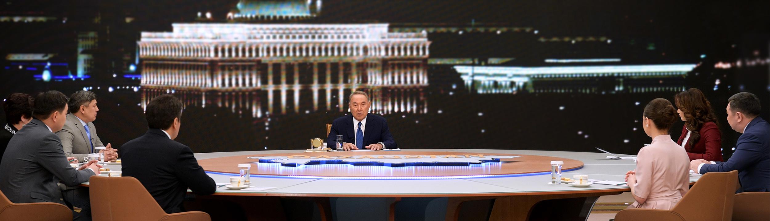 Назарбаев ответил на вопросы казахстанских СМИ