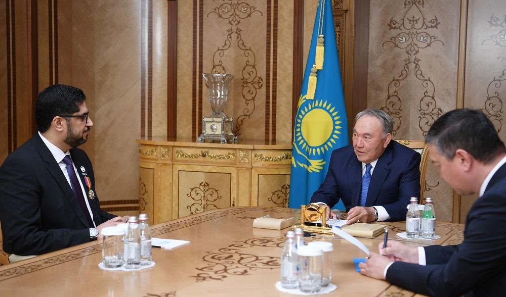 Елбасы поблагодарил посла ОАЭ за вклад в укрепление двустороннего сотрудничества
