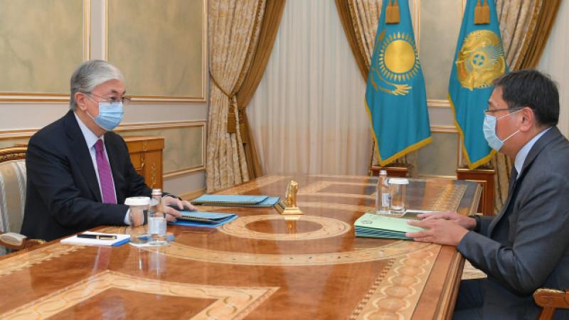 Мемлекет басшысы Ұлттық банк төрағасы Ерболат Досаевты қабылдады