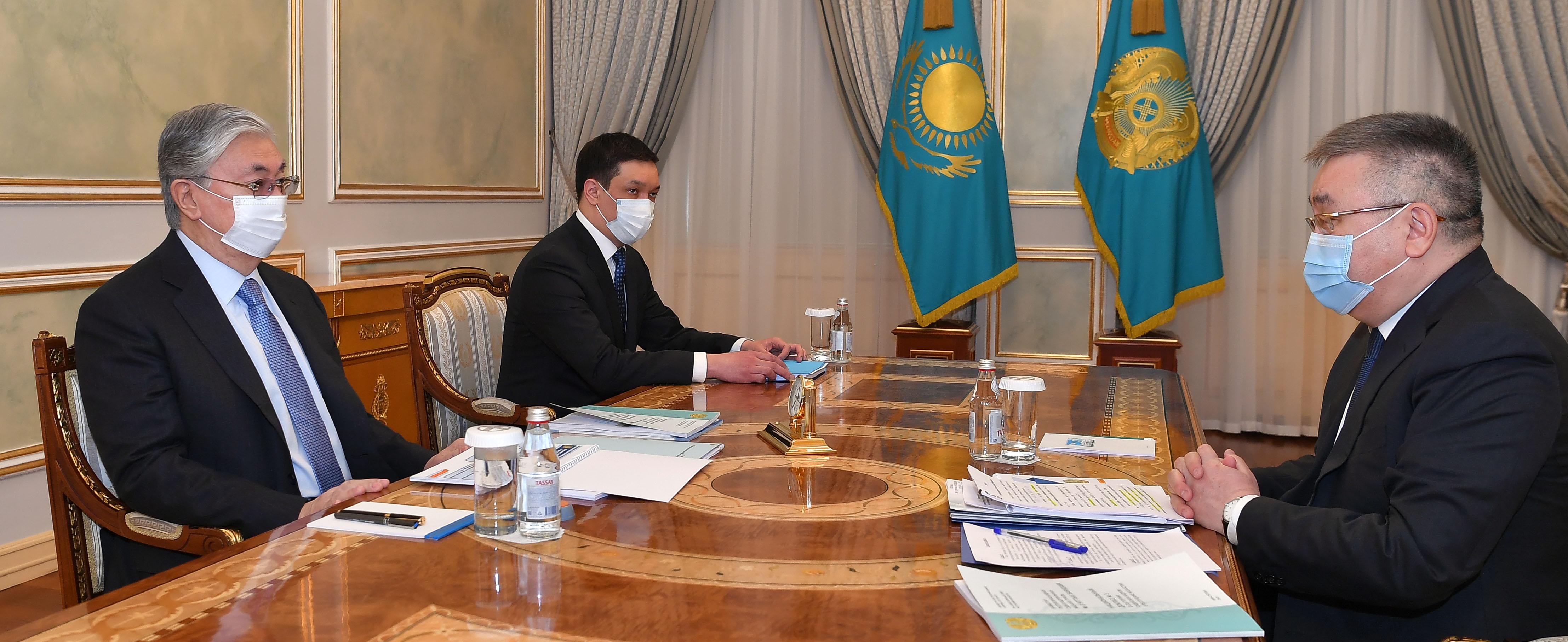 Президент Казахстана принял председателя Высшего судебного совета