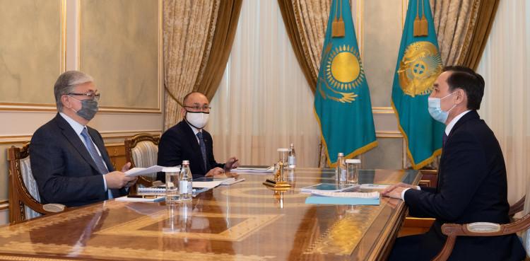 Касым-Жомарт Токаев проинформирован о текущей работе АНК
