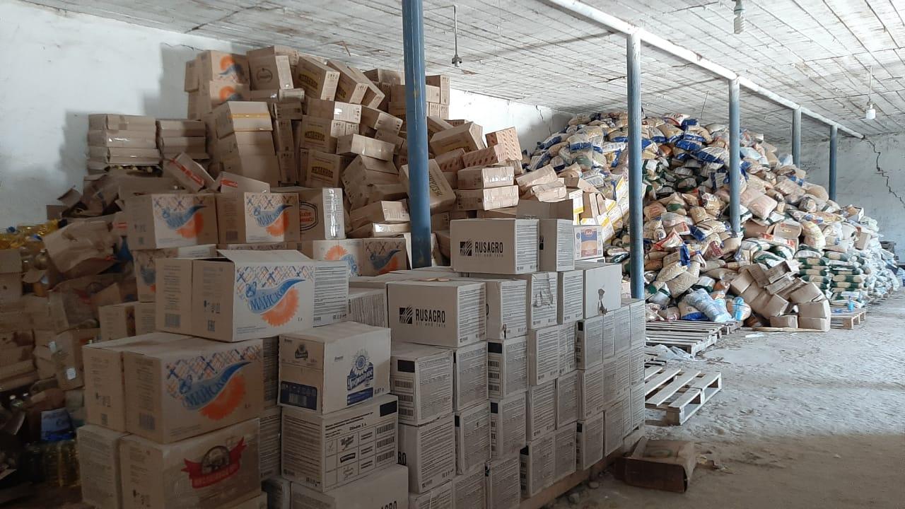 Жителей Мактааральского района, пострадавших от наводнения, обеспечивают продуктами питания