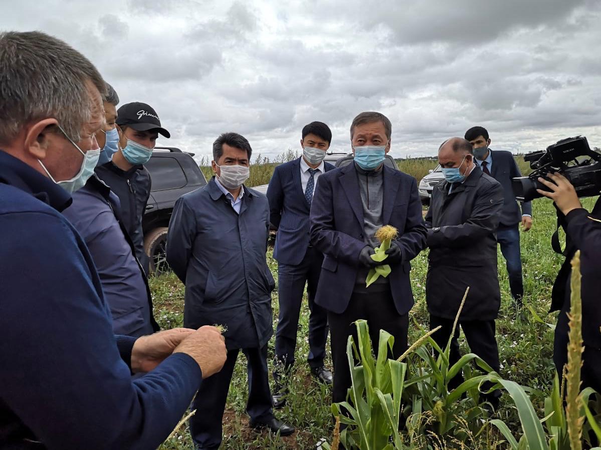Глава МСХ РК встретился с аграриями Карагандинской области