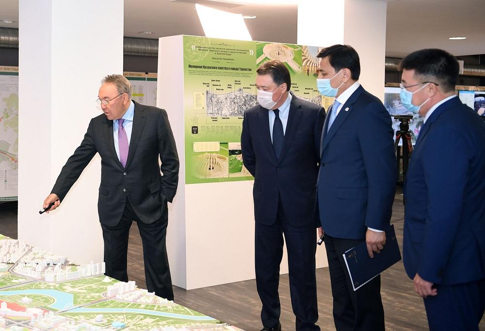 Нурсултан Назарбаев посетил ТОО «Научно-исследовательский проектный институт «Астанагенплан»