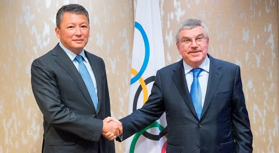 Глава МОК Томас Бах поздравил Тимура Кулибаева с избранием на должность президента НОК