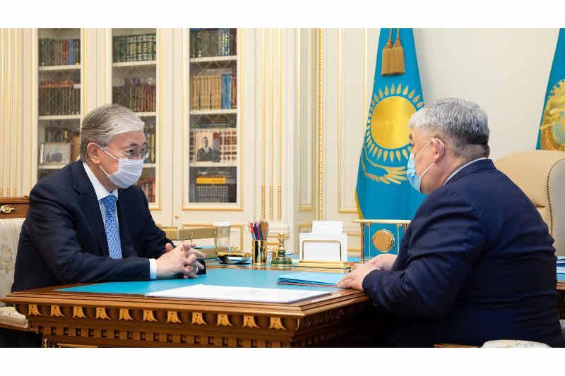 Қасым-Жомарт Тоқаев Мемлекеттік хатшыны қабылдады