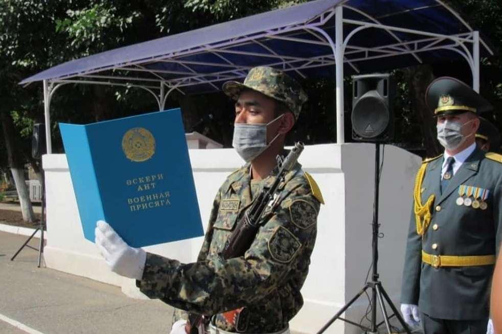 Павлодарда әскери ант тұңғыш рет онлайн режимде қабылданды