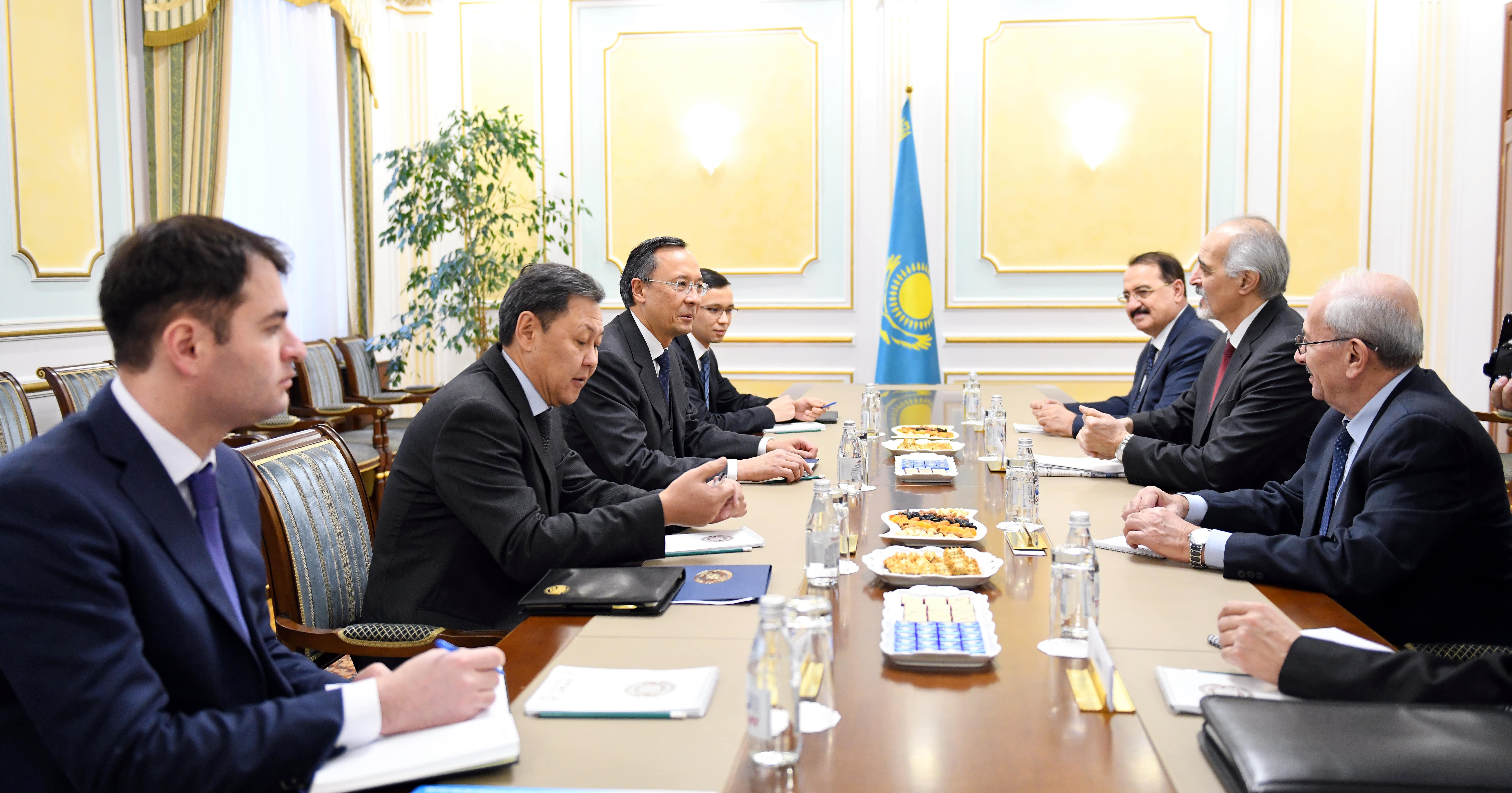 Глава МИД РК встретился с делегациями Правительства Сирии и сирийской вооруженной оппозиции