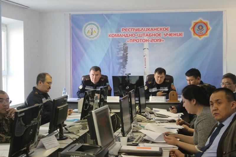 В Казахстане проходят учения по ликвидации возможных аварий при пуске ракет с Байконура