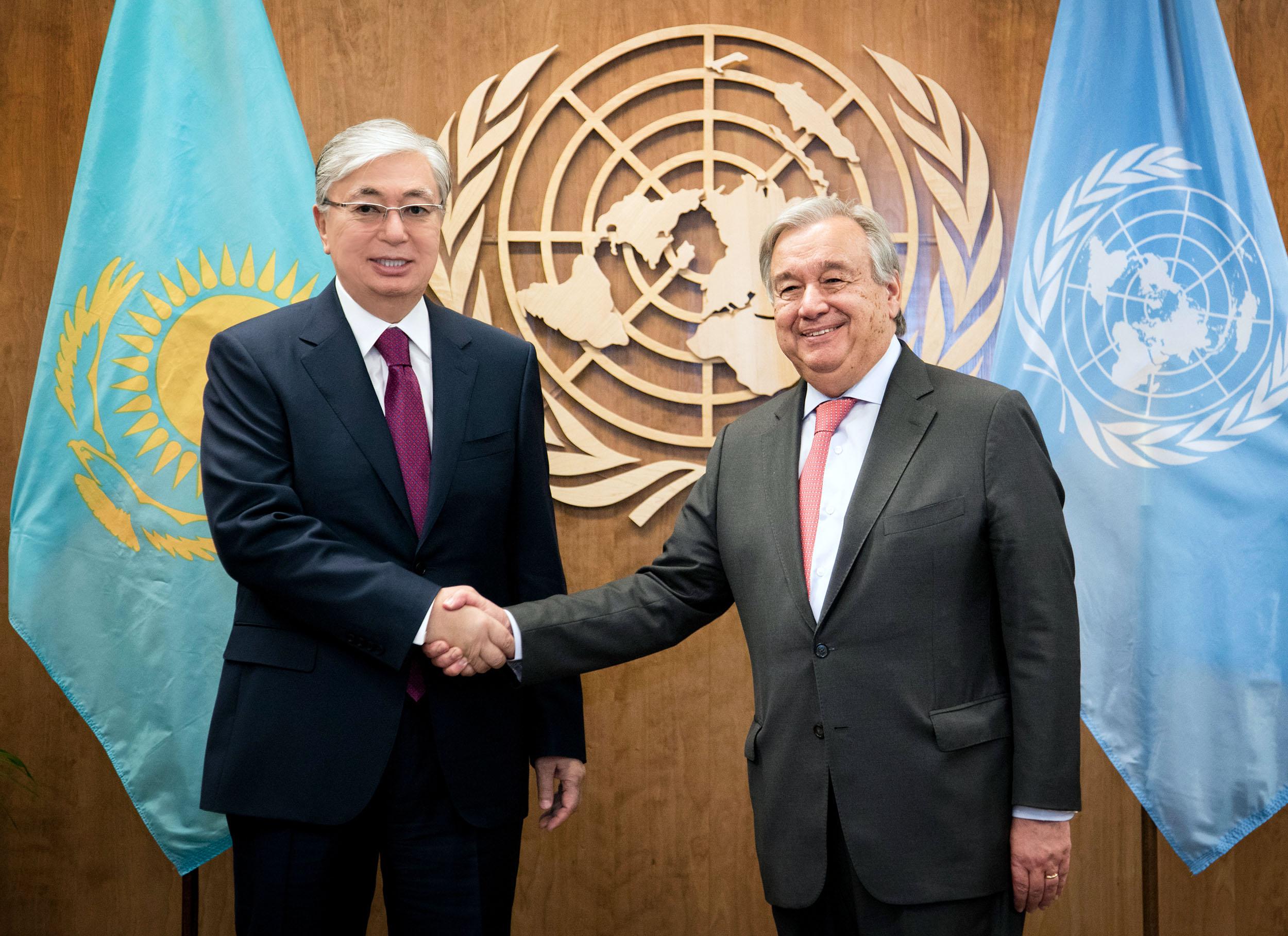 Токаев и Гутерриш обсудили возможное расширение участия Казахстана в миротворческих операциях под эгидой ООН