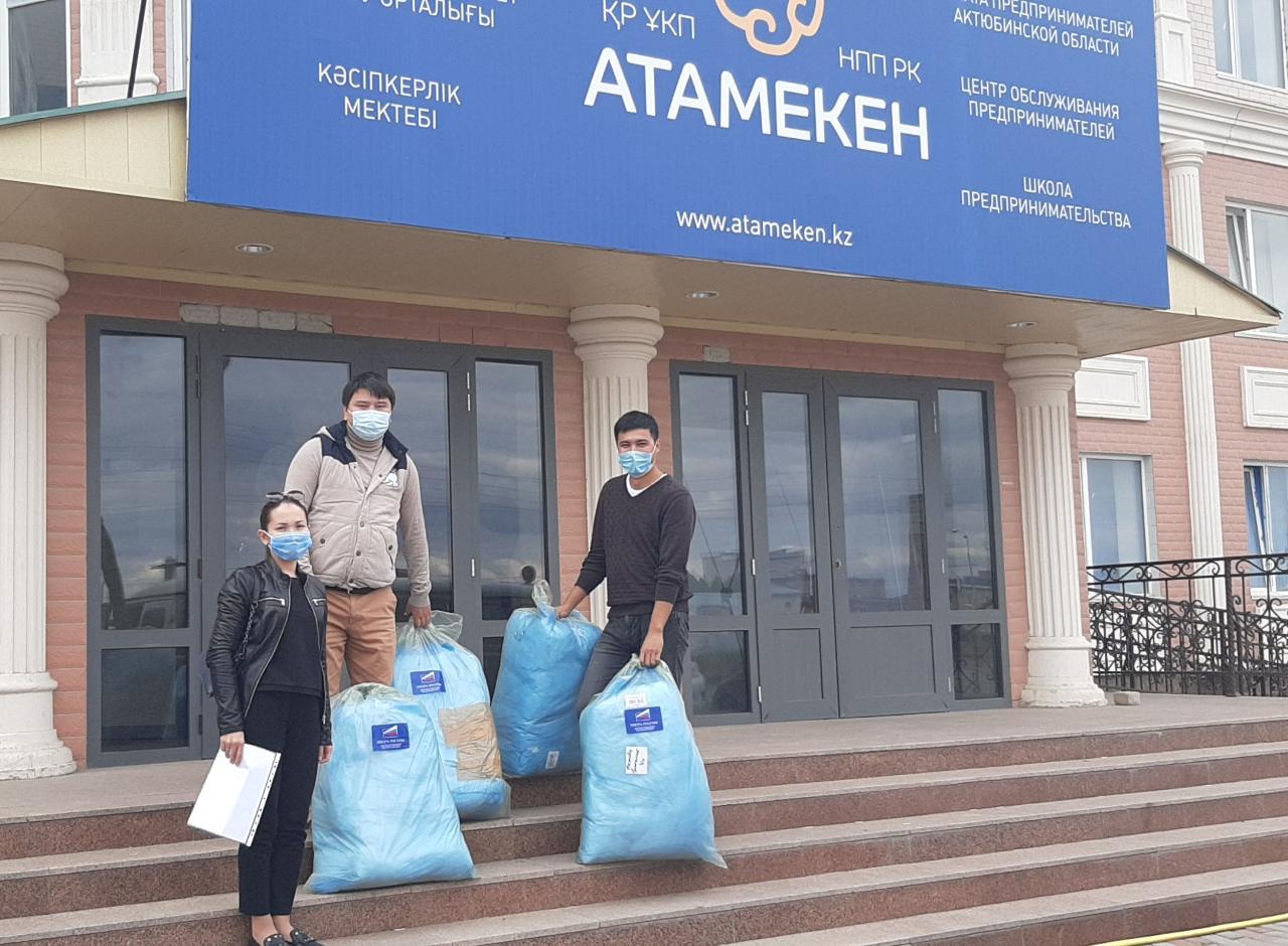 #ВирусДобра: 200 средств индивидуальной защиты в качестве гуманитарной помощи от предпринимателей Оренбурга прибыло в Актобе