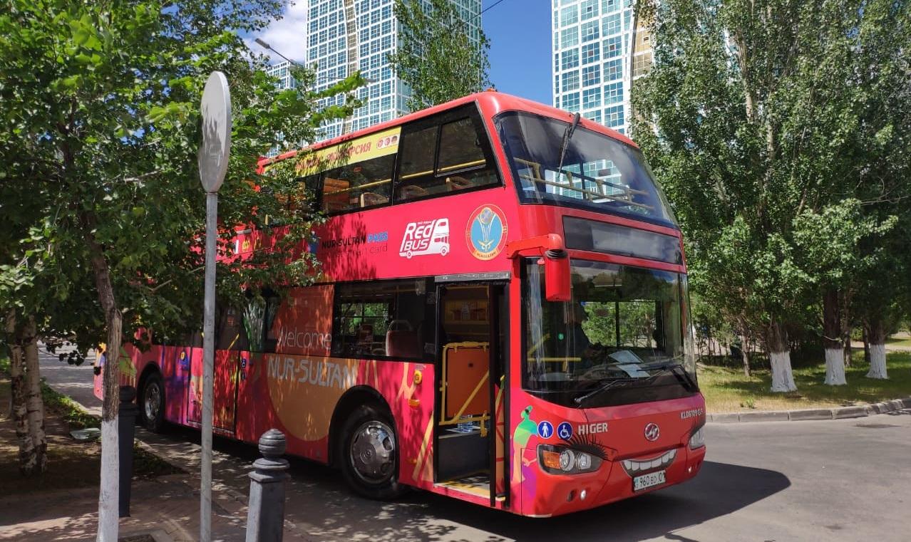 Елордада Red Bus автобустарымен экскурсия қайта жанданды
