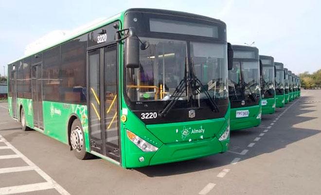 Алматыға жаңа автобустар жеткізілді
