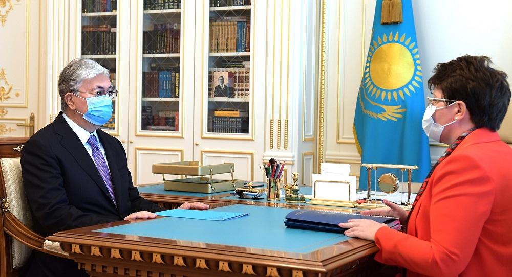 Мемлекет басшысы Наталья Годунованы қабылдады