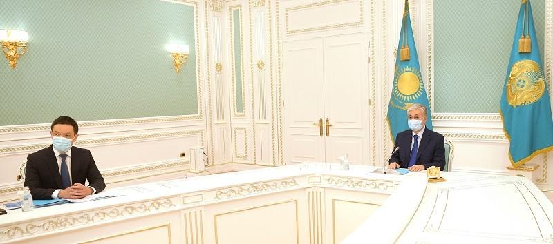 Касым-Жомарт Токаев принял участие в церемонии принятия присяги председателем суда МФЦА