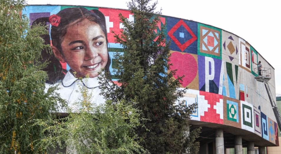Лицо третьеклассницы теперь украшает одну из улиц Павлодара